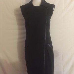 Bebe Asymmetrical Zipper Front Dress